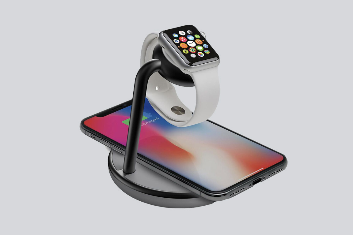GoPower watch stand with wireless charging base