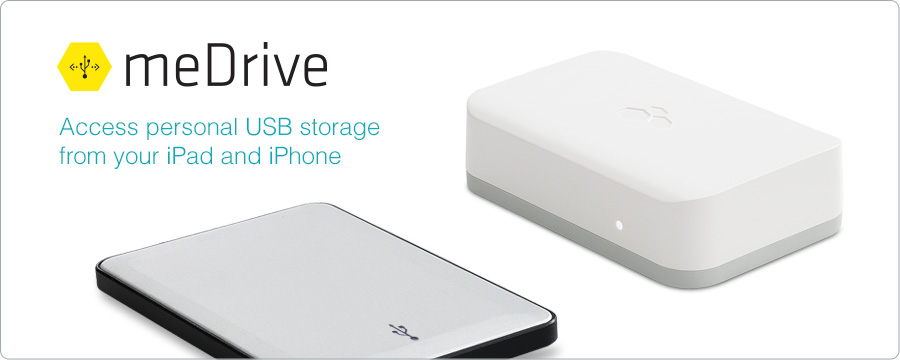 Access personal USB storage from your iPad and iPhone